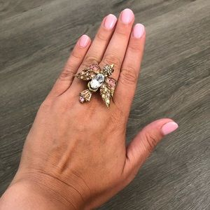 Betsey Johnson Crystal Bird Ring